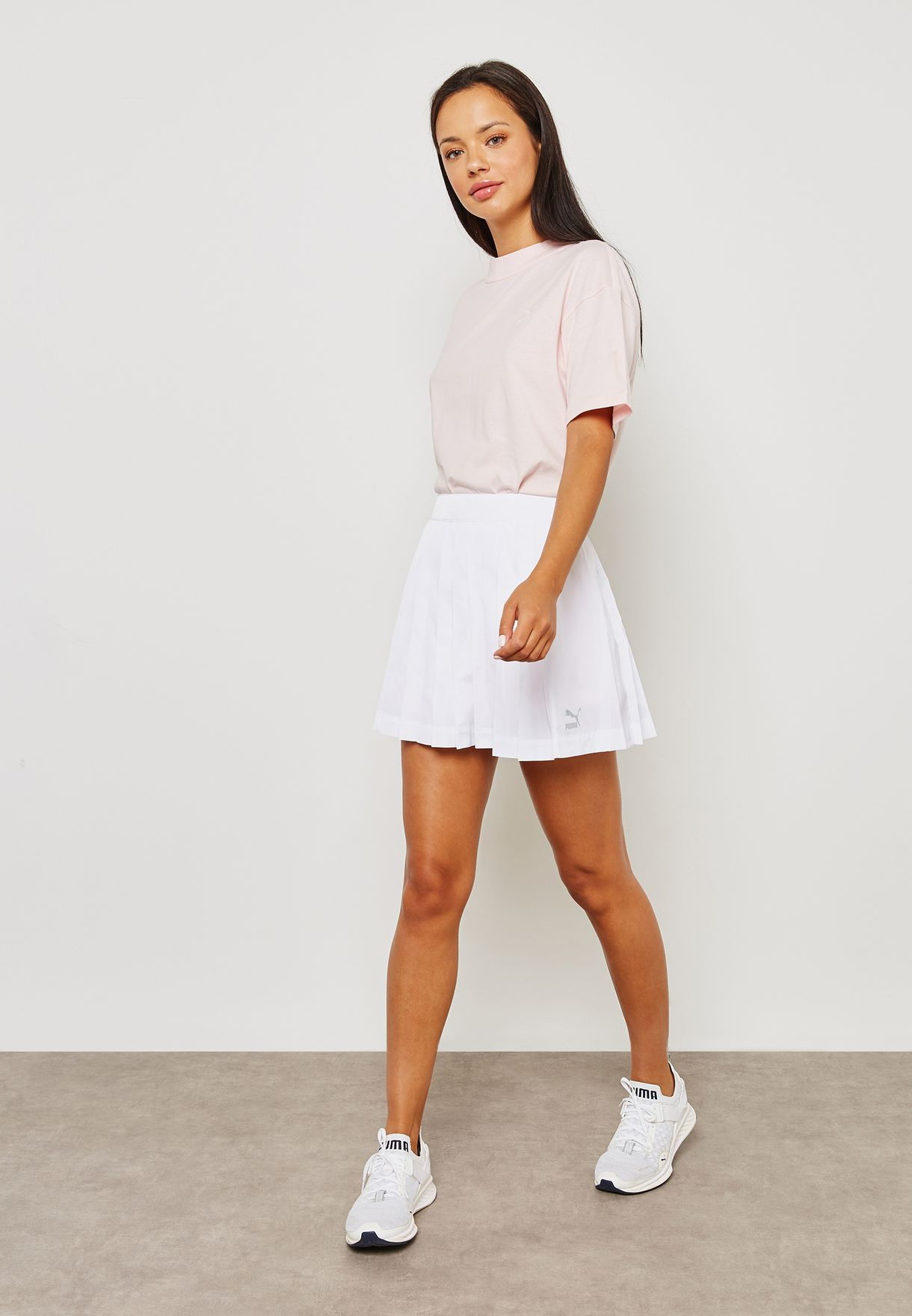 dab428af0b Shop PUMA white Archive Pleats T7 Skirts 85022702 for Women in UAE ...