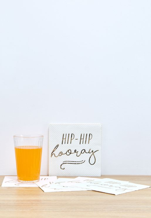 Hip Hip Hooray Napkins 16pcs