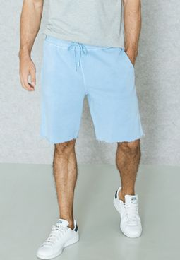 Raw Edge Jersey Shorts