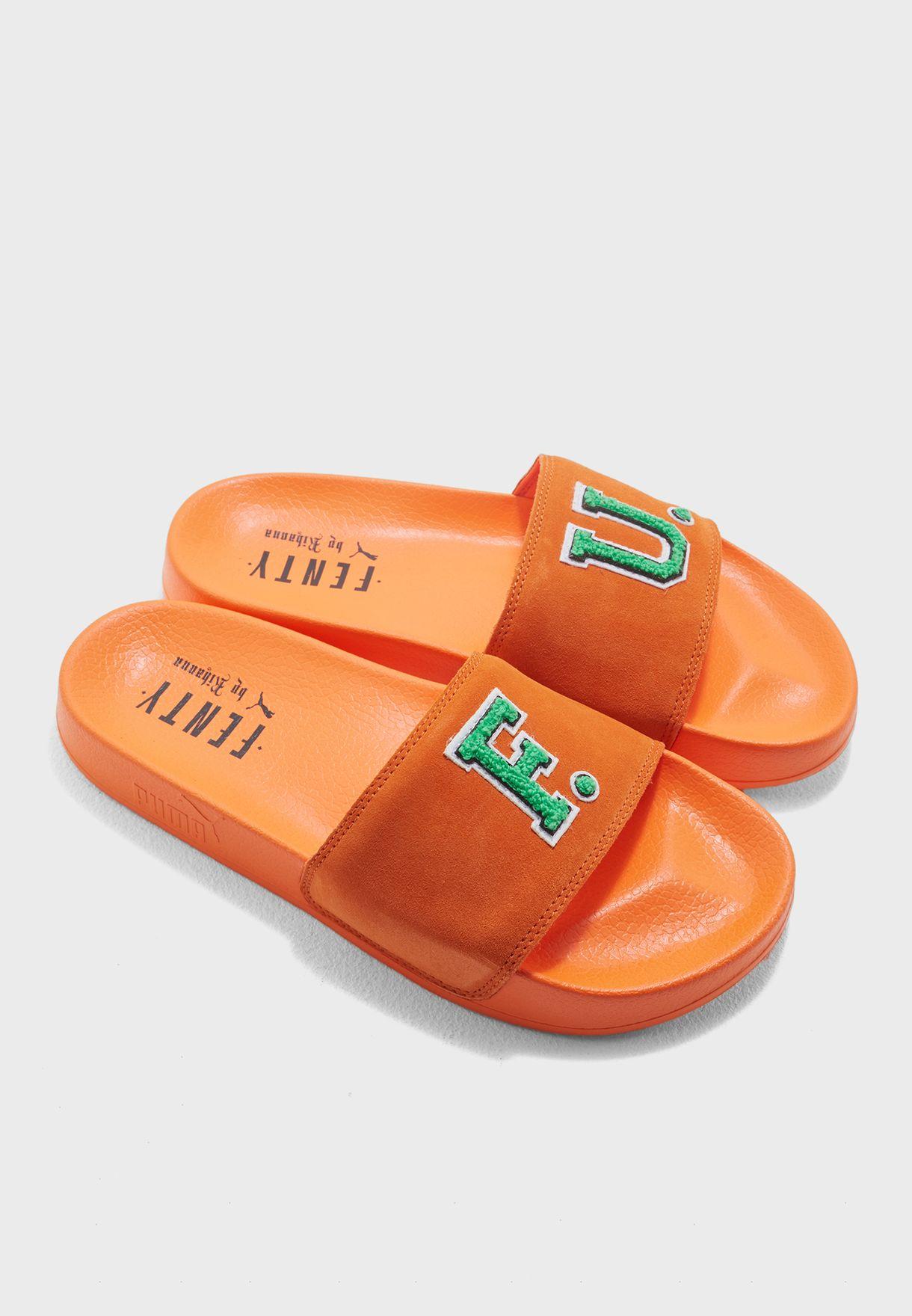 Shop PUMA x Fenty orange Leadcat Fenty Slides 36708703 for Women in Oman -  PU552SH07ITW 1acda7229