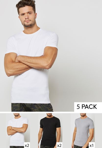 5 Pack Ultra Muscle Fit T-Shirts