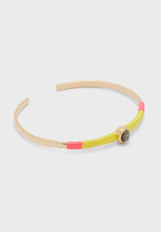 Thread Wrap Open Bangle