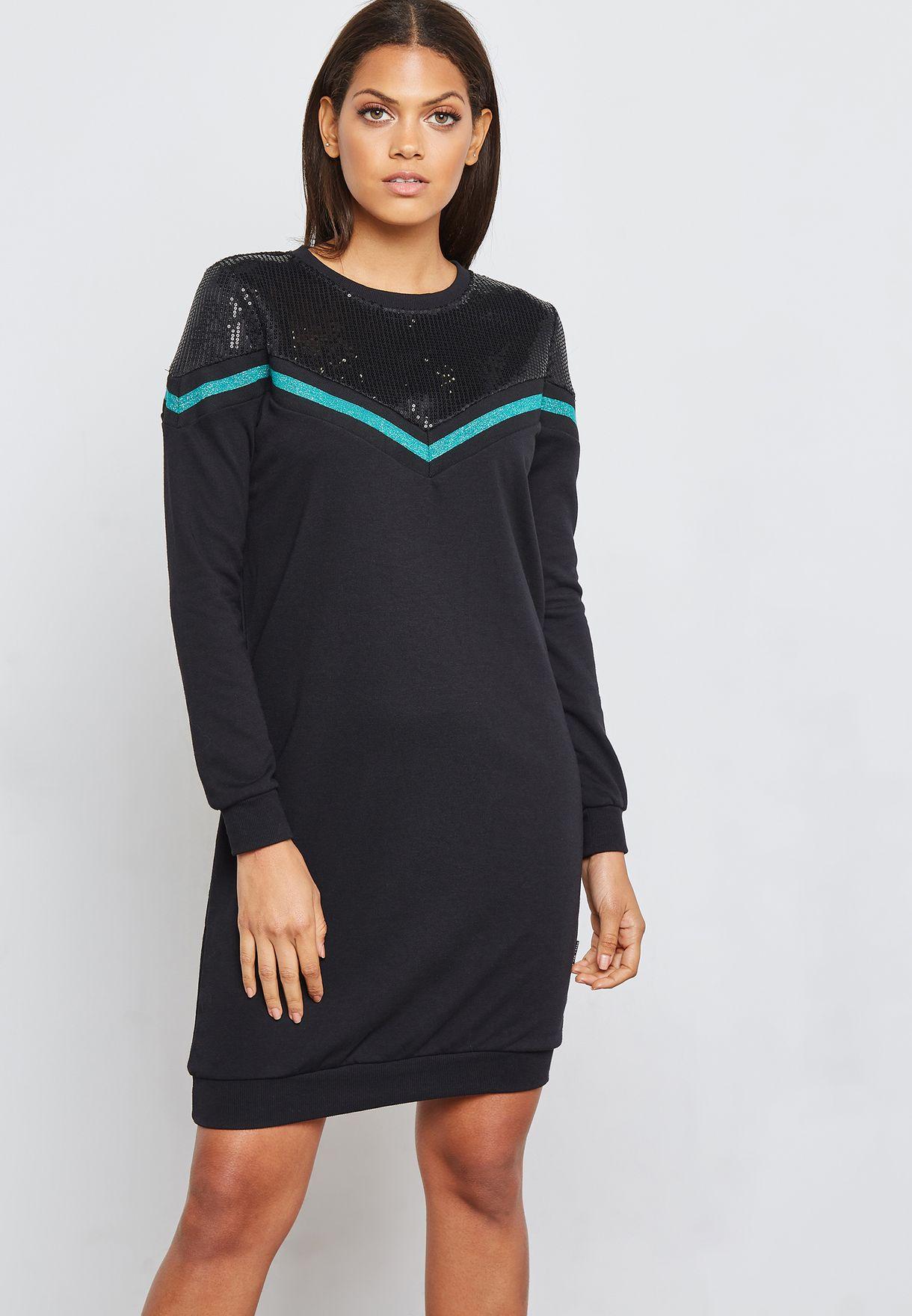 6d521f80c2 Shop Noisy May black Chevron Sweater Dress 27004050 for Women in UAE ...