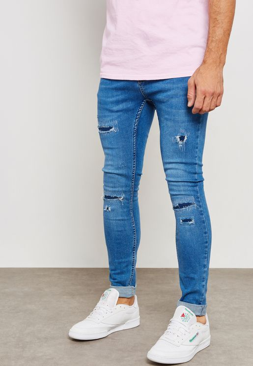 Ripped Spray On Jeans