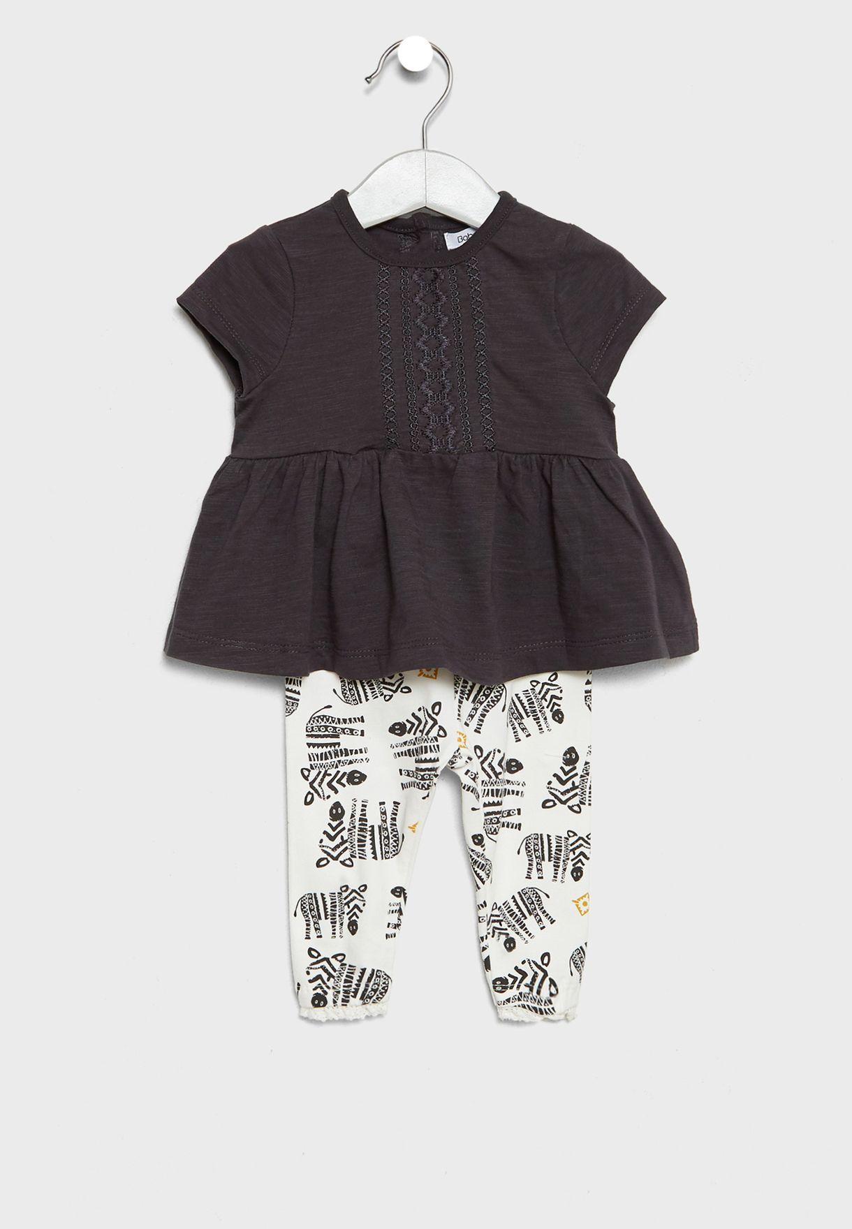 91790aecd17997 Shop Minoti multicolor Infant Top + Leggings Set tribal 7 for Kids ...