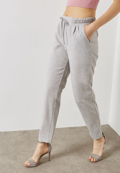 ROY DRAW STRING WAIST PENCIL PANTS