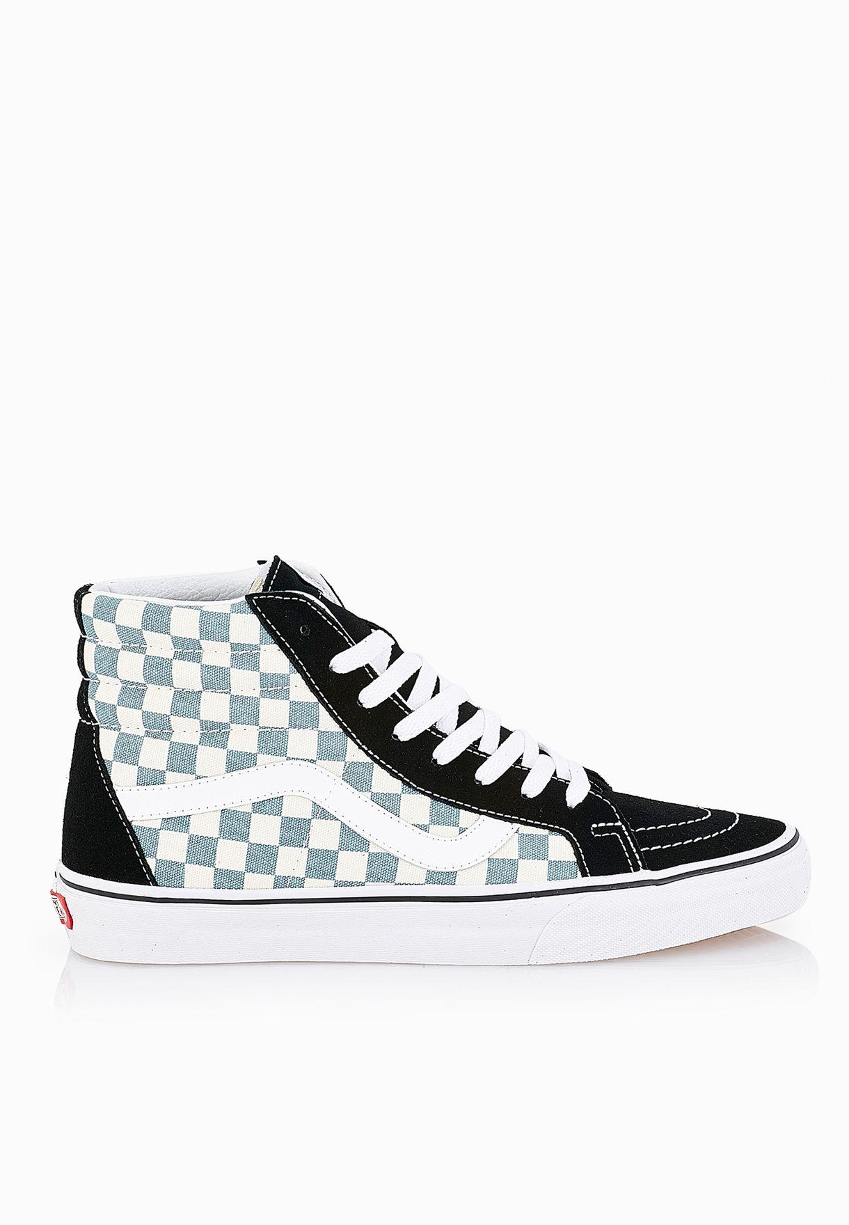 46709f8ac7 Shop Vans black SK8-Hi Reissue Checkerboard Sneakers VAFT-3CAIB7 for Men in  Kuwait - VA088SH07SJG