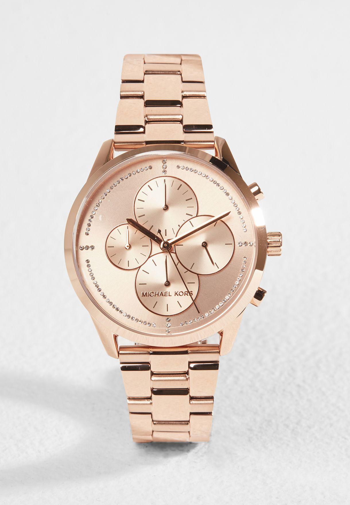 35adad2f63f85 تسوق ساعة كرونوغراف ماركة مايكل كورس لون ذهبي MK6521 في عمان ...