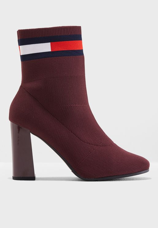 Sock Heel Boot