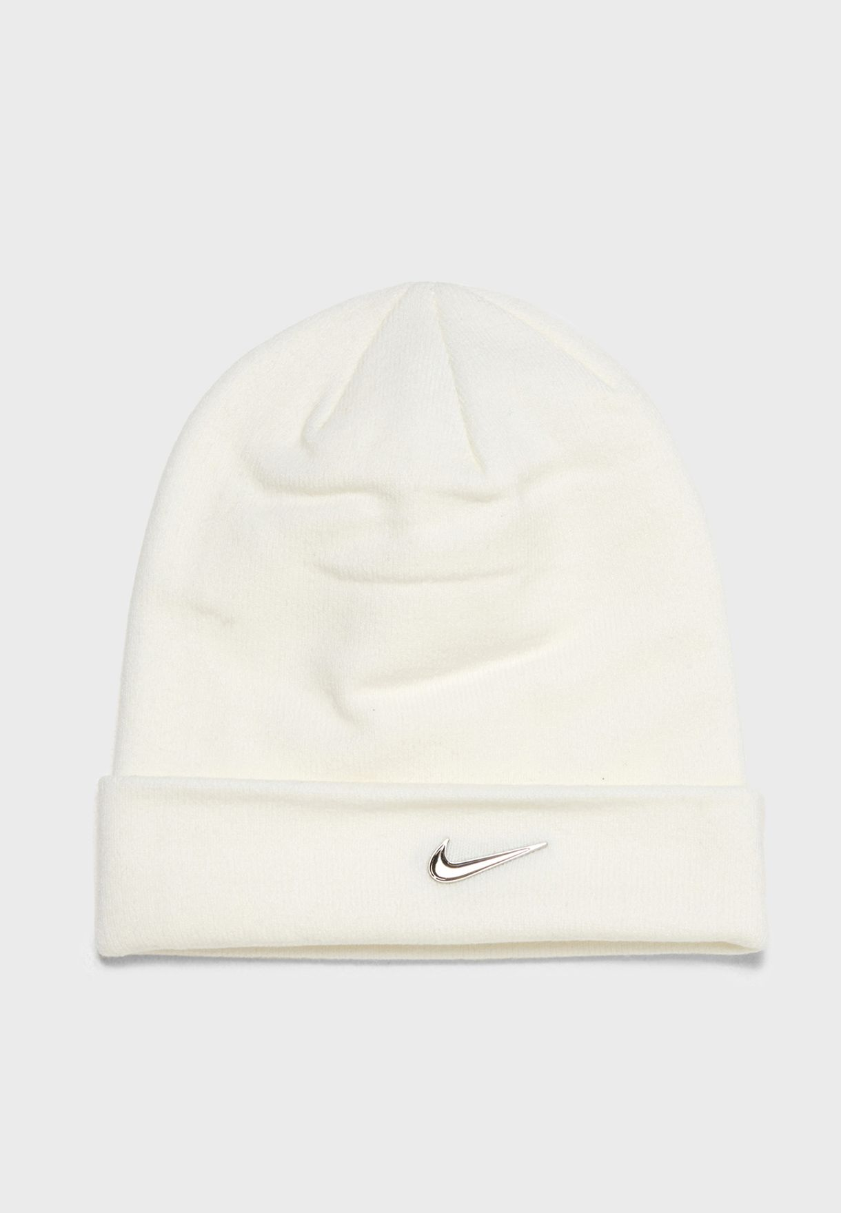 Shop Nike white Swoosh Beanie 803734-100 for Men in Saudi - NI727AC07HSY 0d232db549cc