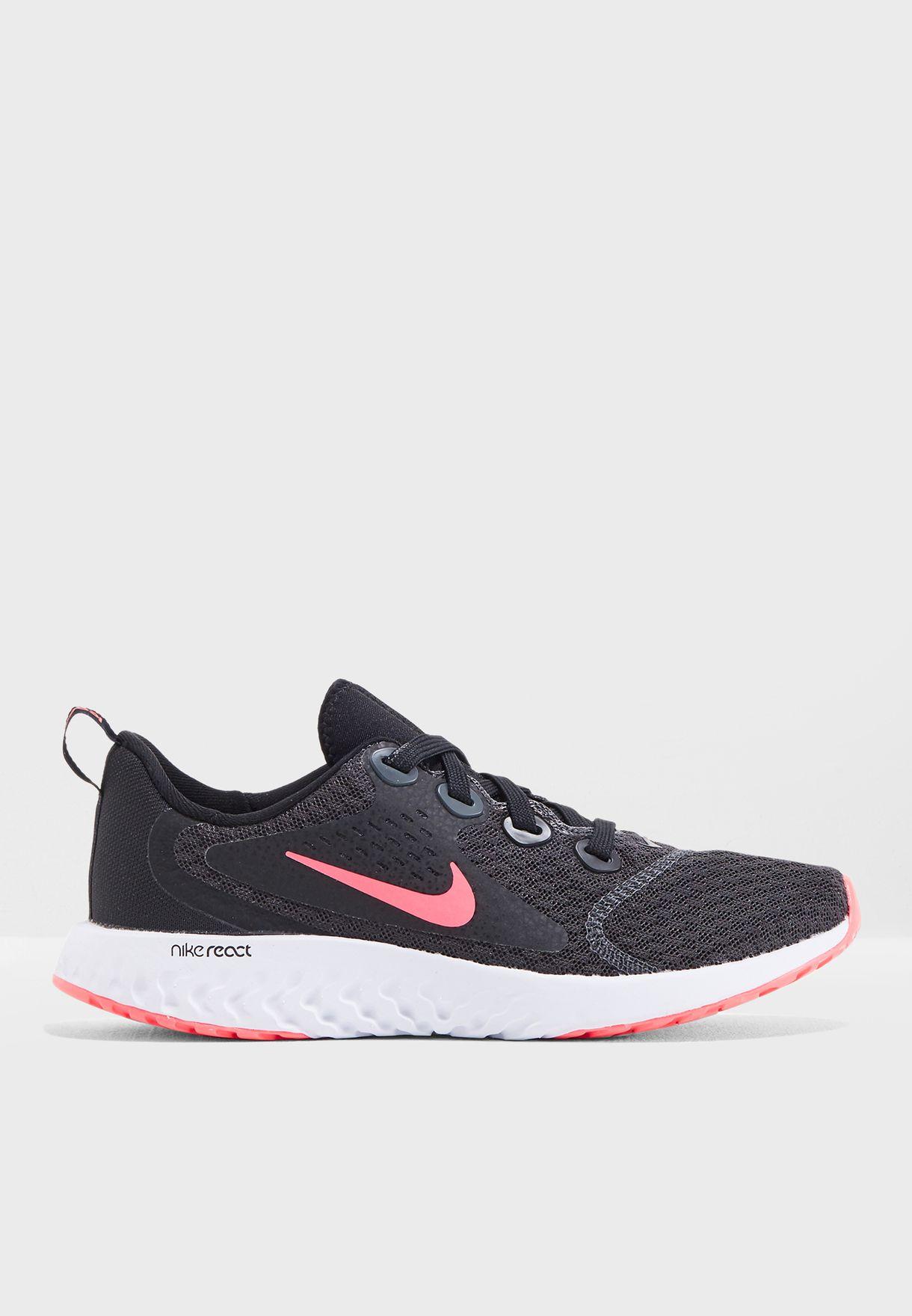 d7e77472942b Shop Nike black Youth Rebel React AH9437-001 for Kids in UAE - NI727SH07FOY