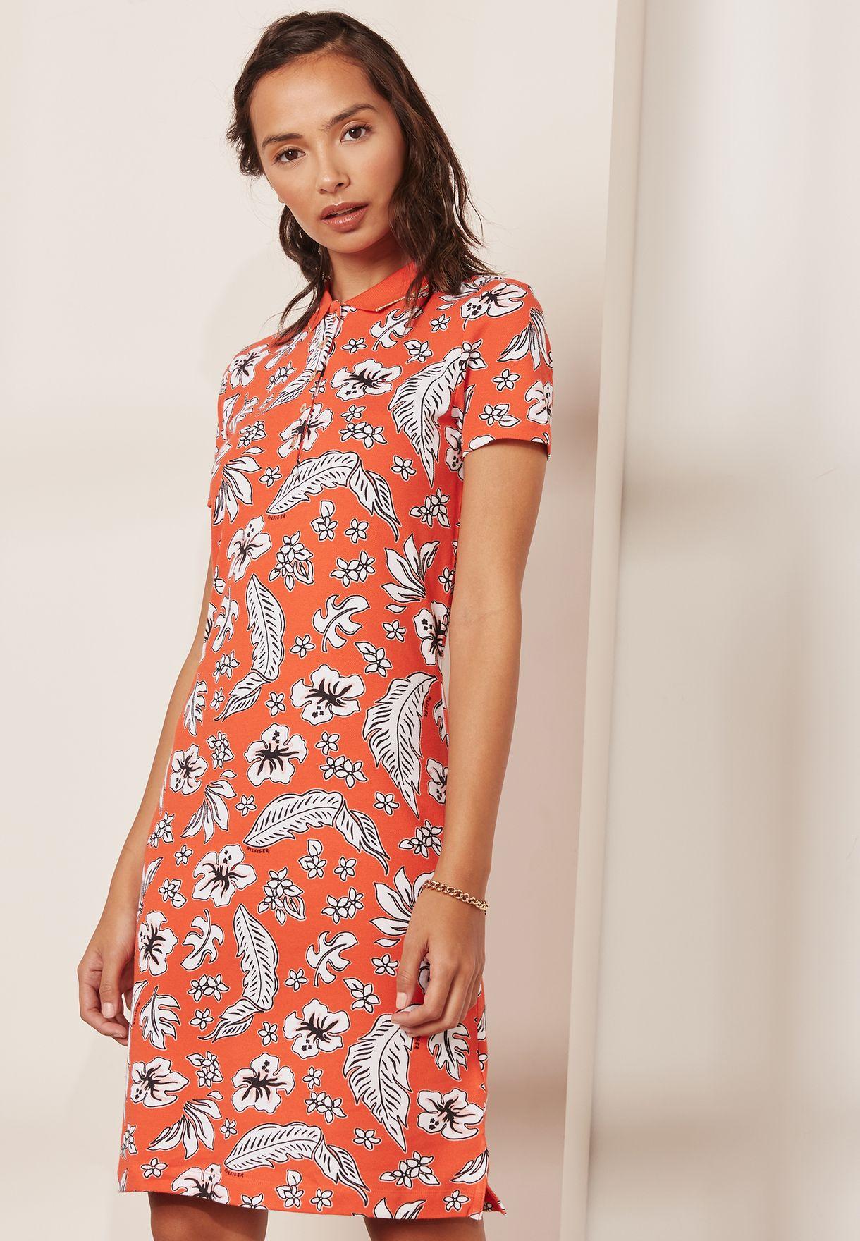 3f6681ae7be4 Shop Tommy Hilfiger prints Chiara Printed Polo Dress 1M87640146 for ...