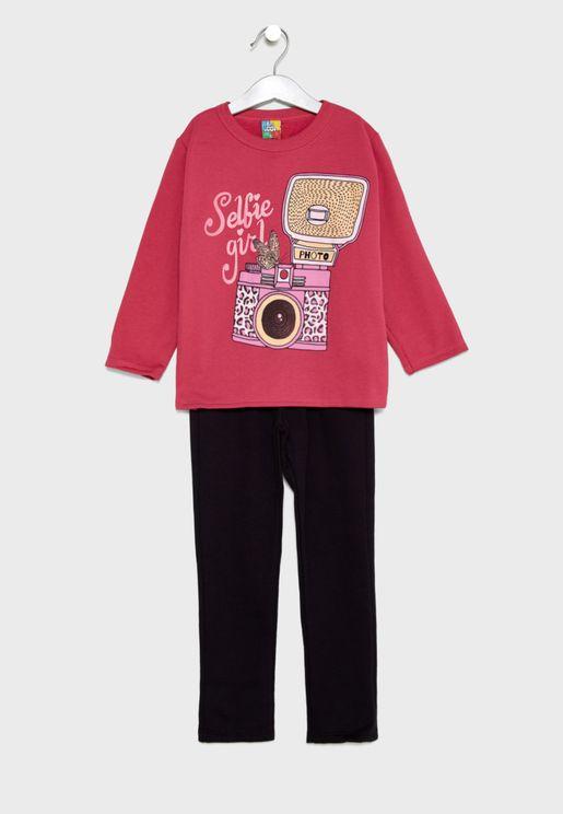 Little Sweatshirt + Sweatpants Set