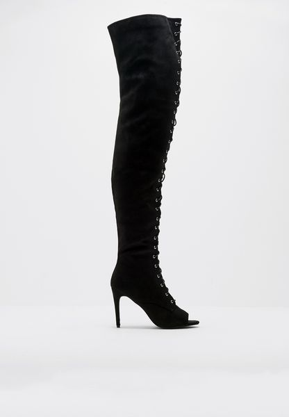 Shirley's Wardrobe Upton Lace Up Over Knee Boots