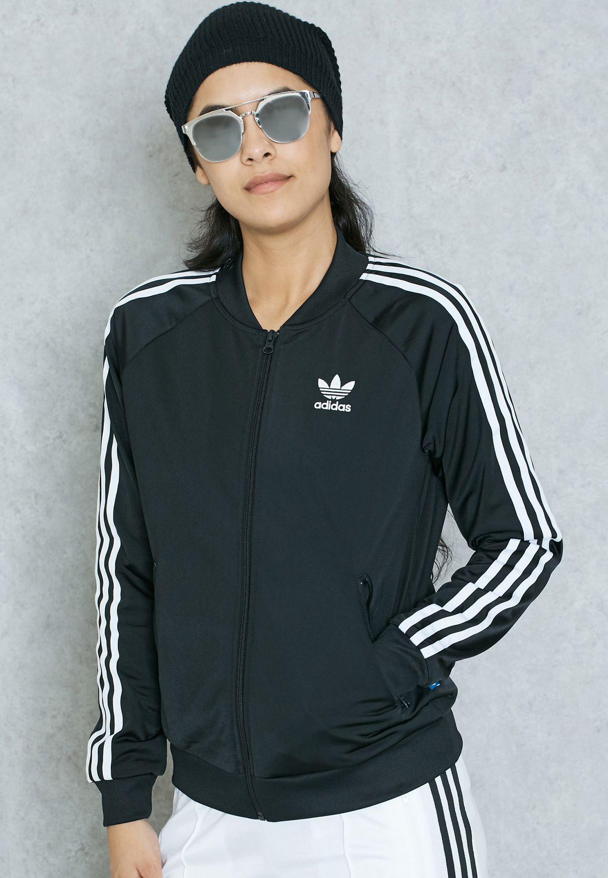 d3b7d86d4829 Shop adidas Originals black Superstar Track Jacket BK5931 for Women ...