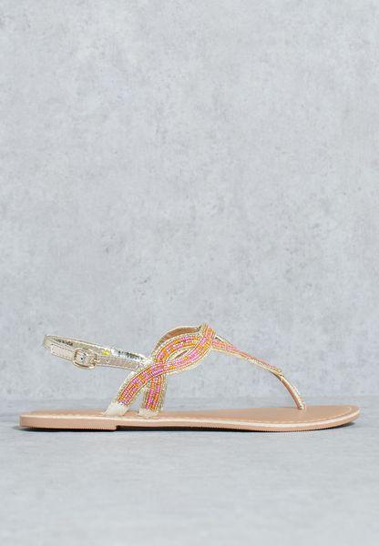 Embellished Twist Sandal