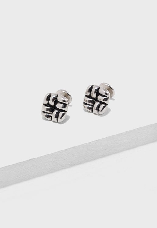 Antique Rattan Detaiil  Cufflinks