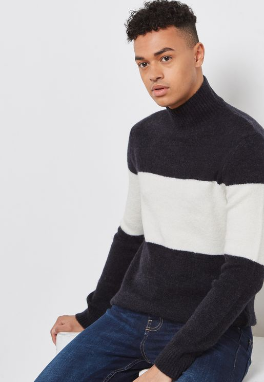 Hairy Colour Block Sweater