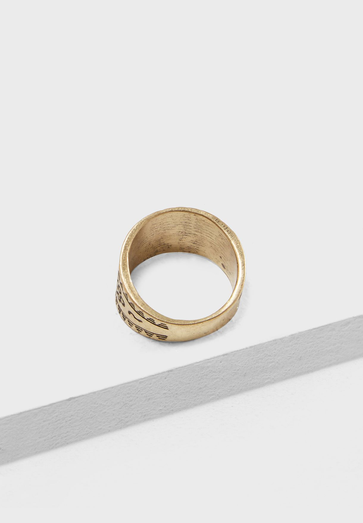 Medium Burnished Ring