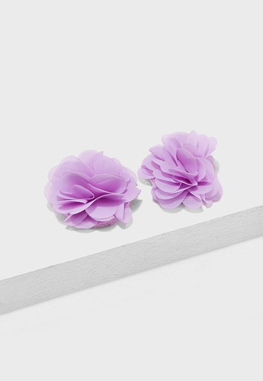 Kids 2 Pack Floral Hair Clips