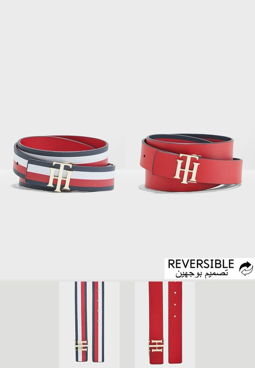3.0 Logo Stripe Reversible Belt