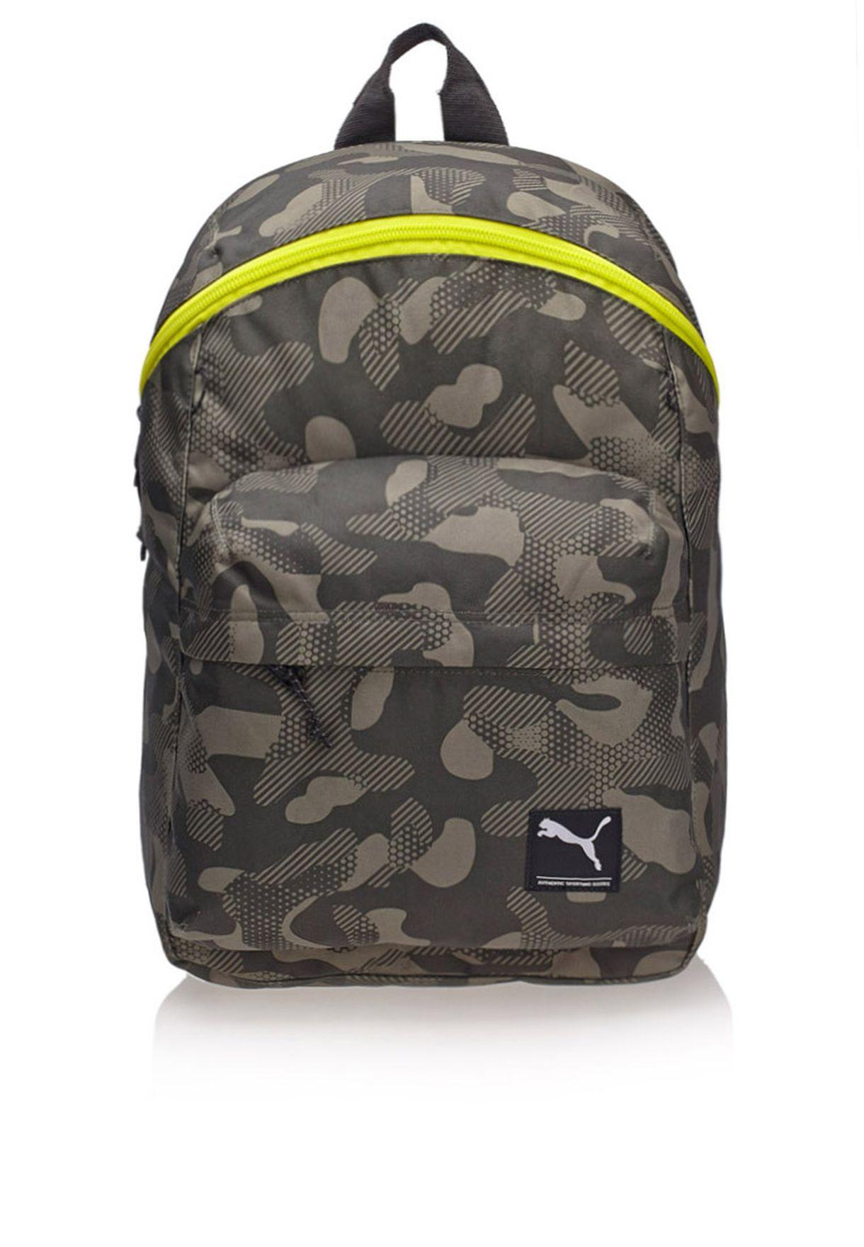 1dfd51d8862 Shop PUMA green Foundation Backpack 7257104 for Men in Bahrain ...