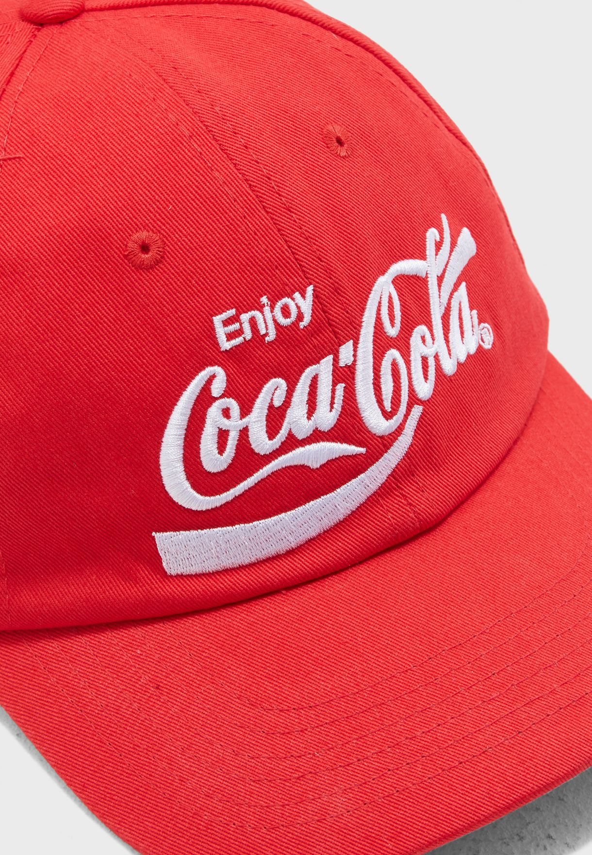 ceb496325f5 Shop Forever 21 red Coca-Cola Graphic Dad Cap 276396 for Women ...
