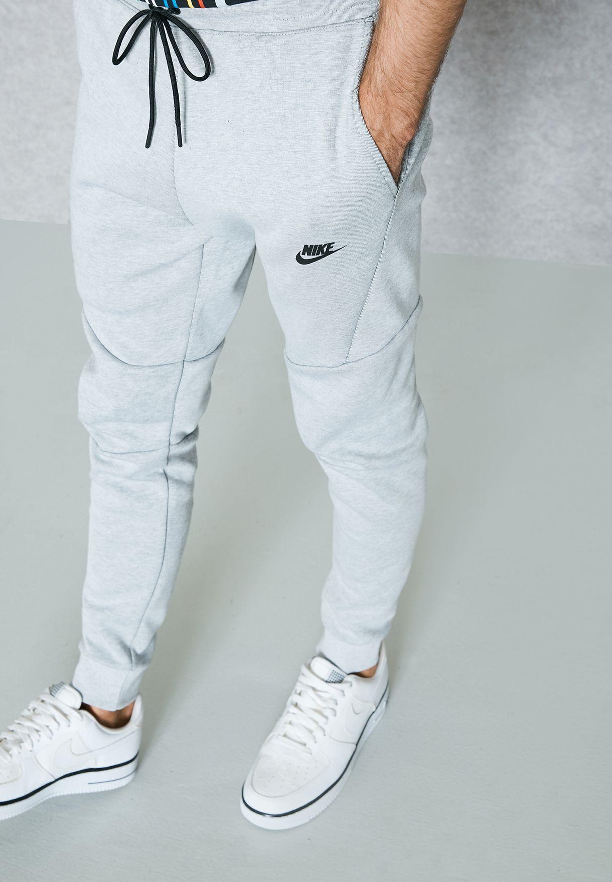 f667a48cefe9 Shop Nike grey Tech Fleece Sweatpants 805162-100 for Men in UAE ...
