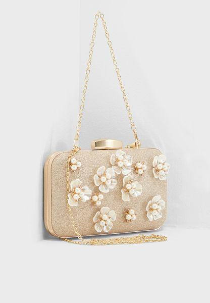 3D Floral Box Clutch