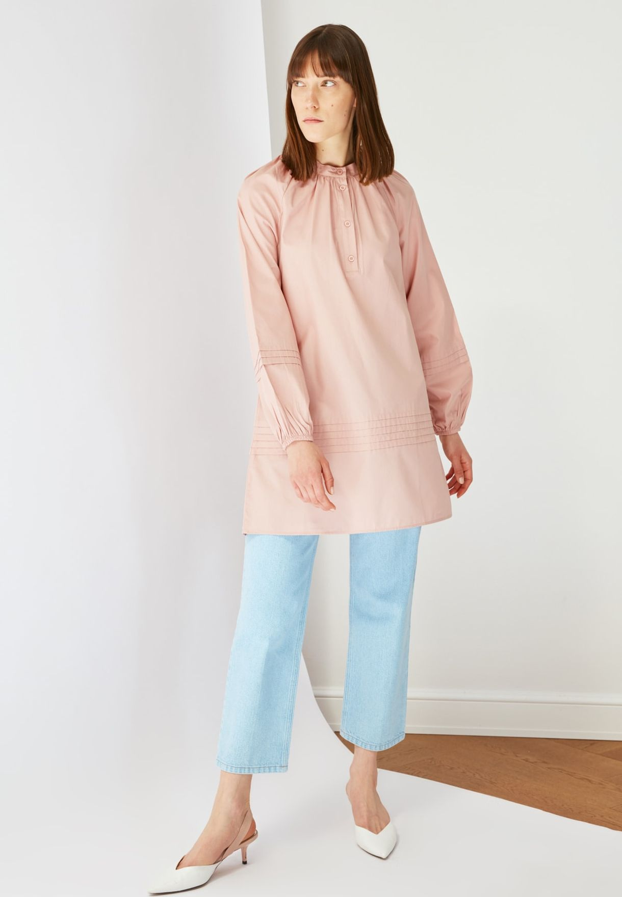 Button Detail Tunic Top