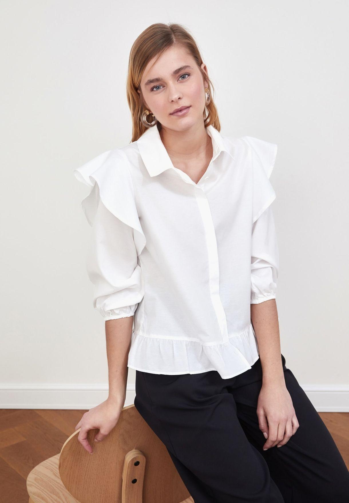 Ruffle Detail Shirt
