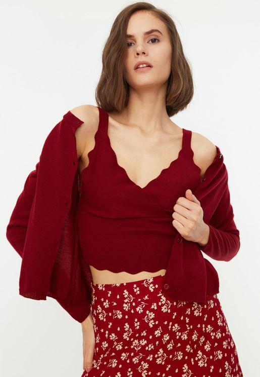 Cami Crop Top & Cardigan Set