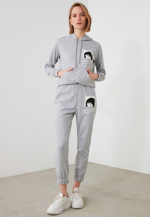 Graphic Hoodie & Sweatpants Set