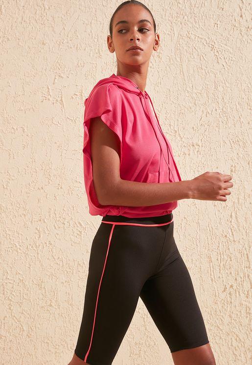 Side Stripe Cycling Shorts