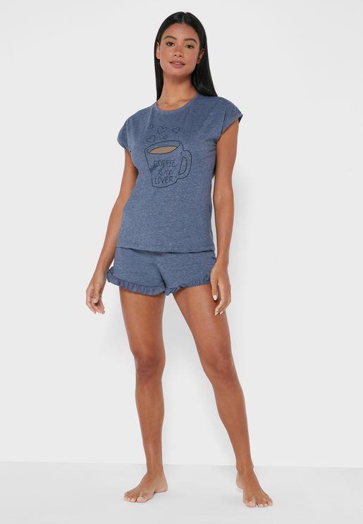 Graphic T-Shirt & Shorts Set