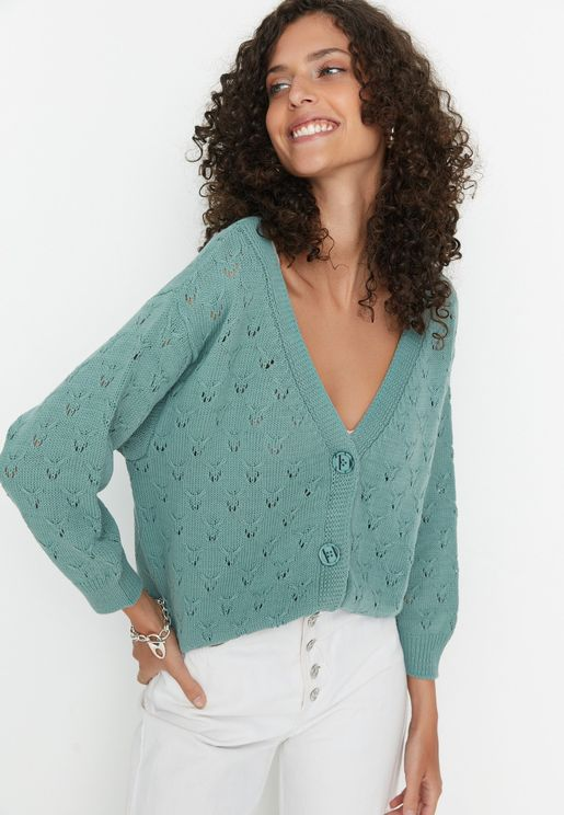 Knitted Button Down Cardigan