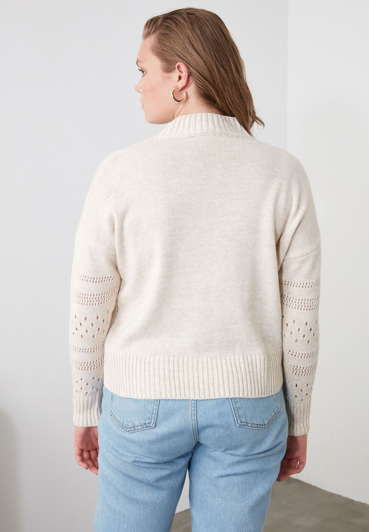 Openwork Knitted Sweater