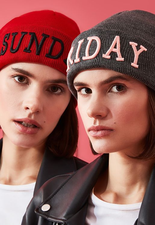 Embroidered 2-Pack Beanie