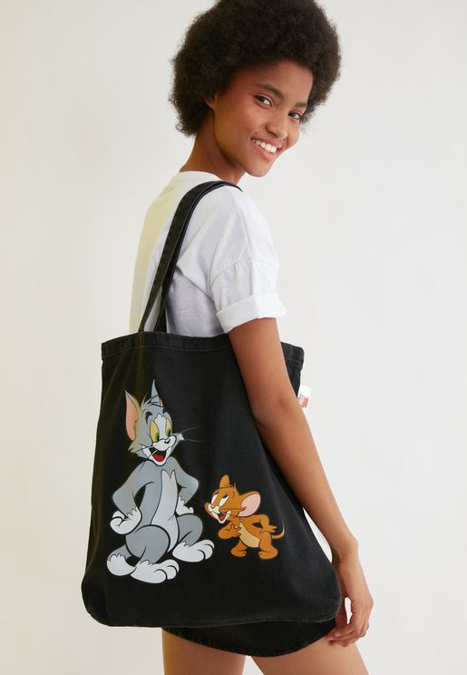 Tom & Jerry Printed Shopper