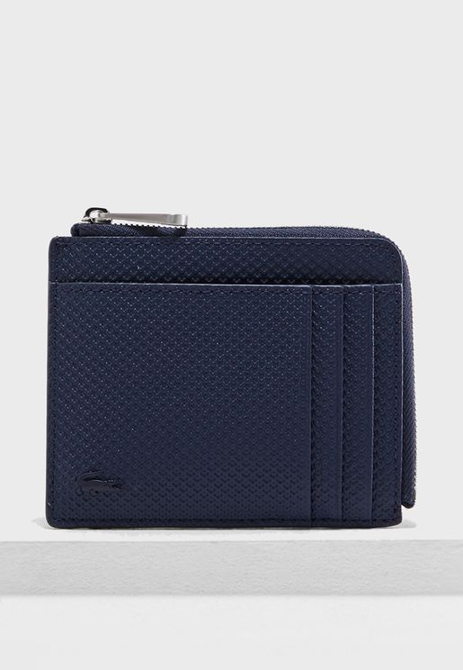 Zipper Leather Wallet