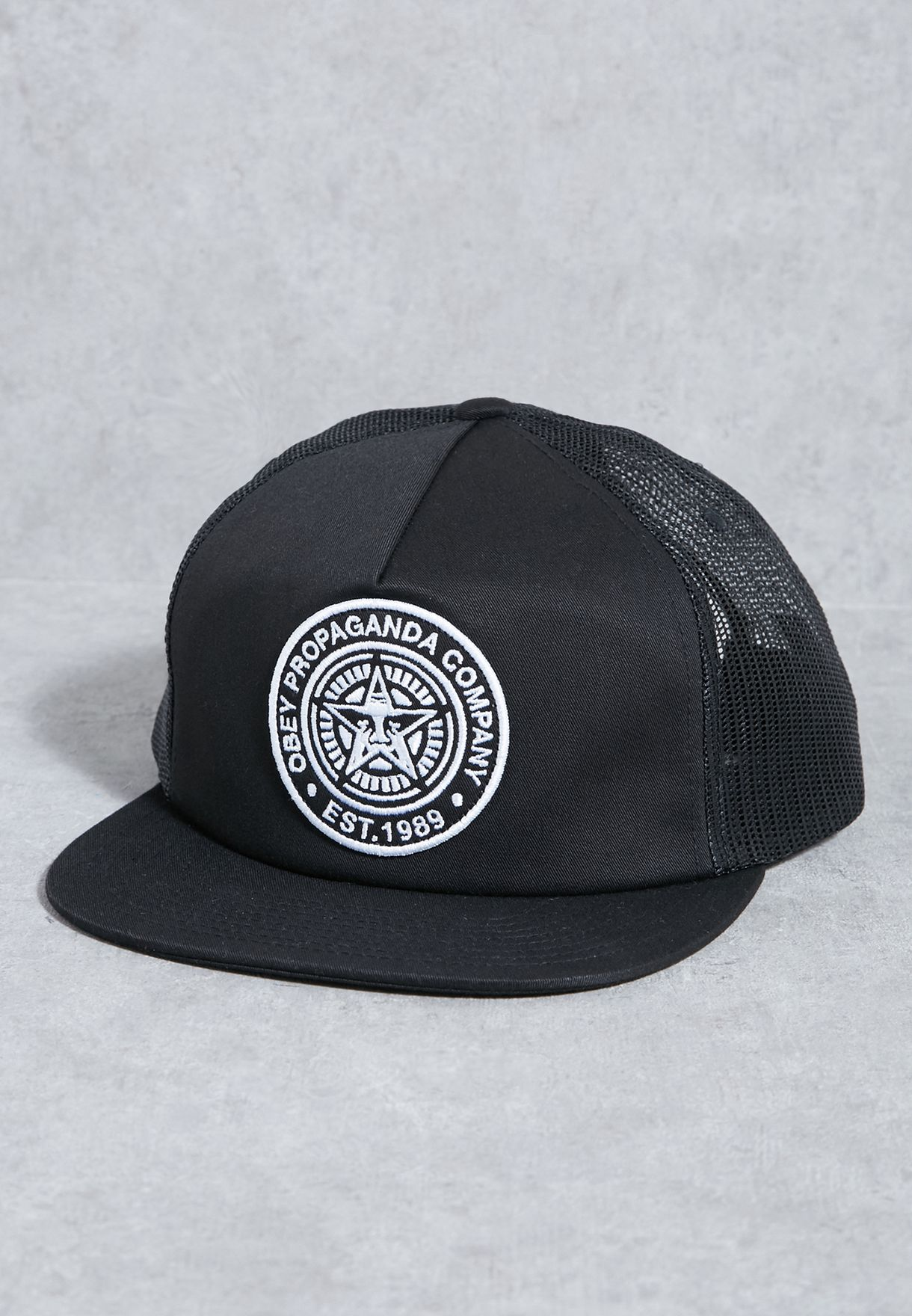 Shop Obey black Established 89 Trucker Cap 100500007 for Men in Kuwait -  OB965AC96DST b6c72af422c