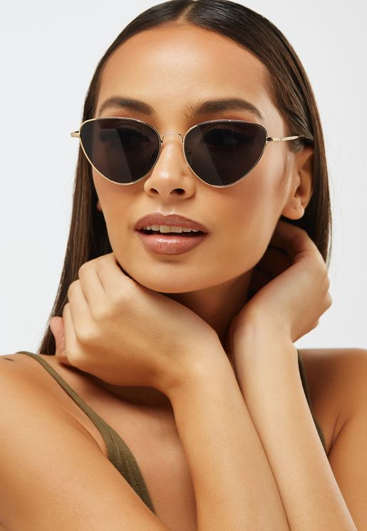 d276fd770b Metal Frame Cat Eye Sunglasses