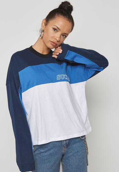 Colorblock Long Sleeve T-Shirt