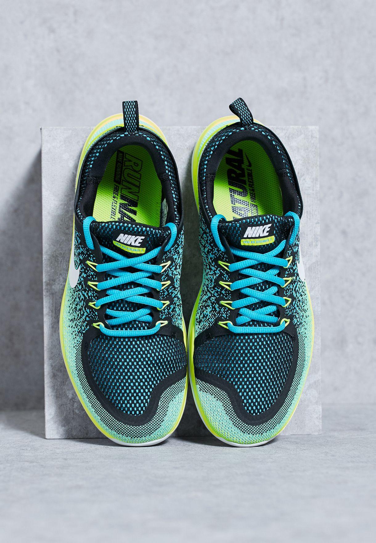 d4e15abb8fce6 Shop Nike multicolor Free Rn Distance 2 863775-402 for Men in UAE ...