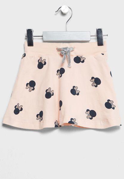 Infant Minnie Print Skirt