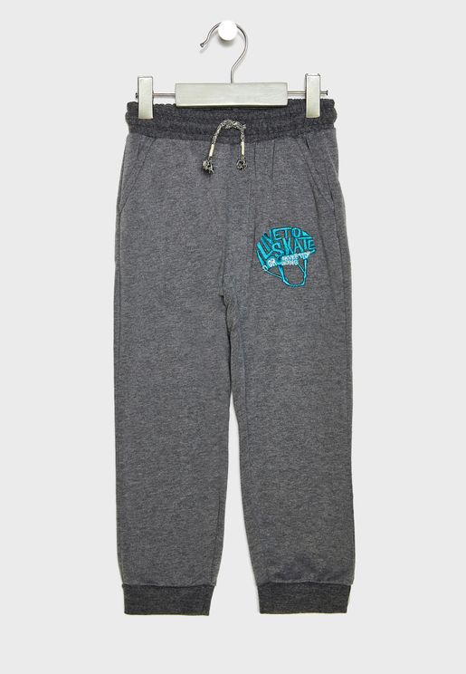 Little Embroidered Sweatpants