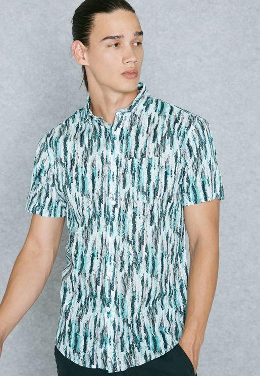 Feather Print Shirt