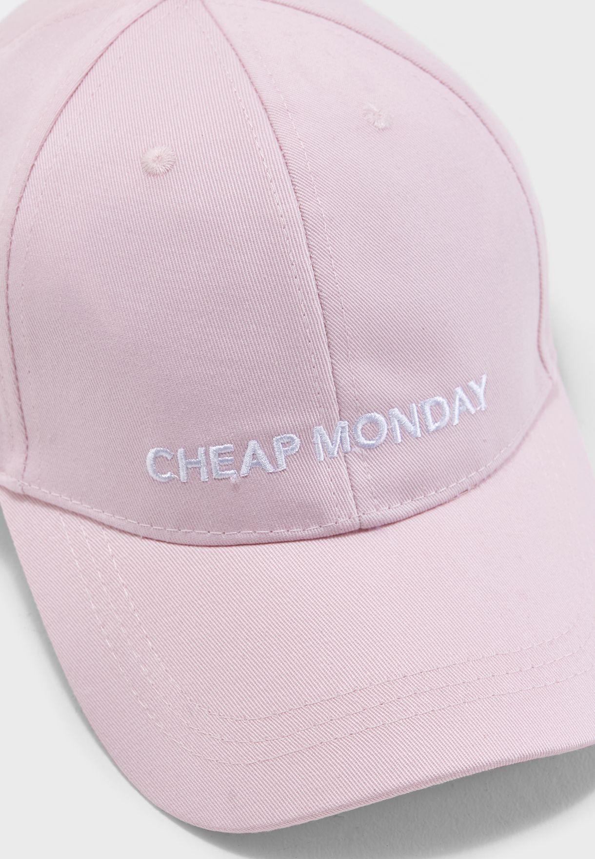 Shop Cheap Monday pink Baseball Curved Peak Cap 0518078 for ... 27b1578c168