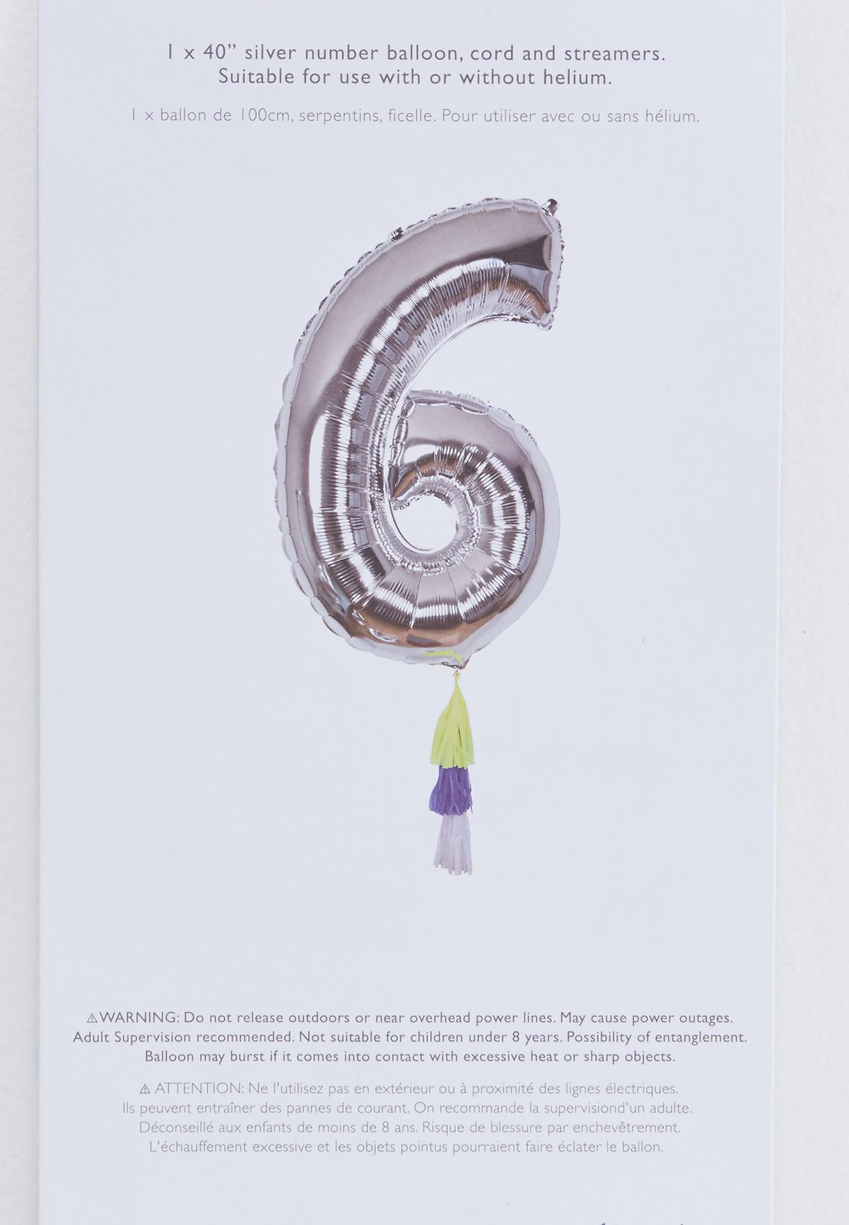 6 Number Fancy Balloon