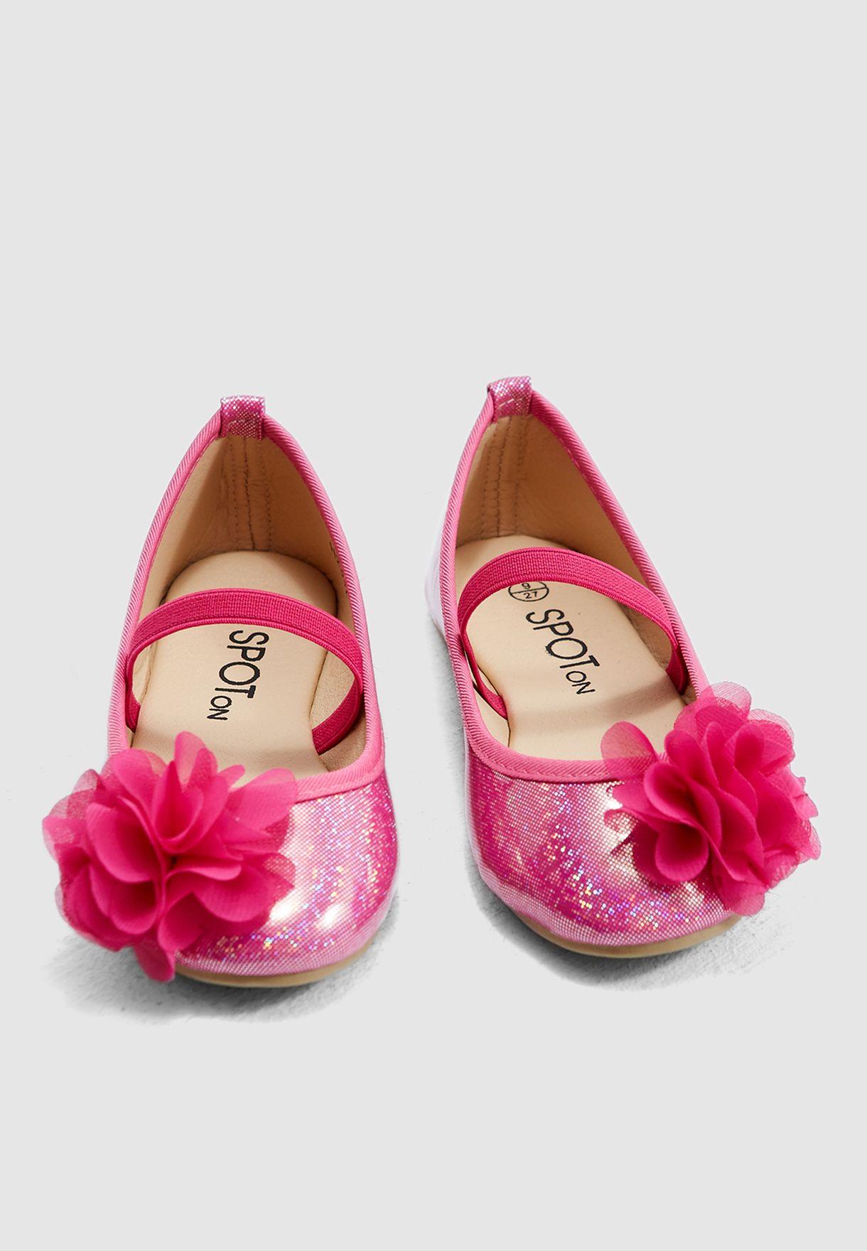 Kids Flower Applique Ballerina